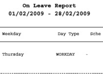 On Leave Report